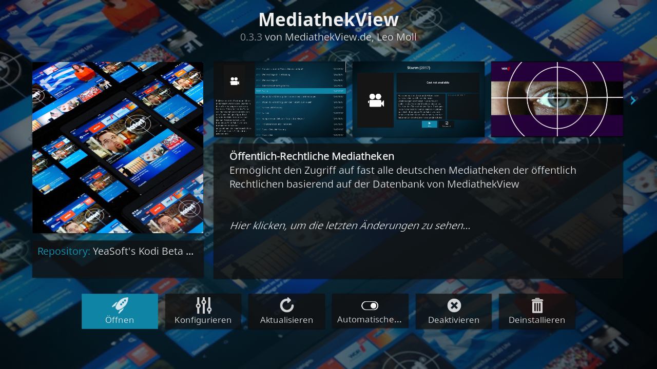 Screenshot vom Kodi-Addon - Add-on Details